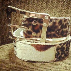 Accessories - Womens 9 section animal print belt, boho
